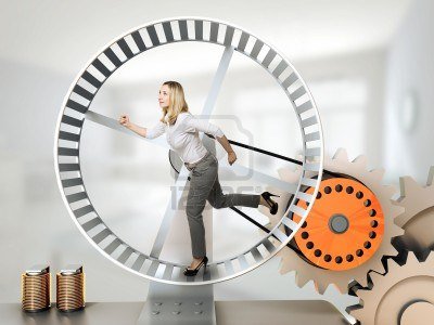 14741683-running-woman-on-3d-hamster-wheel